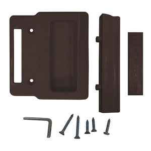 Gliding Patio Door Insect Screen Hardware Package Standard And Top Hung Dark Bronze