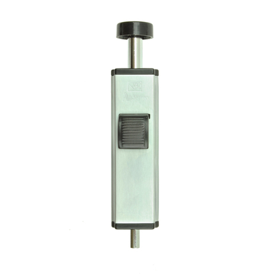 Gliding Patio Door Brushed Chrome Auxiliary Foot Lock