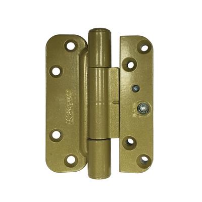 Hinge Kit Left Hand Brassy Gold Zinc Hinges And Hinge Kits