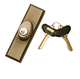 Gliding Door Exterior Keyed Lock