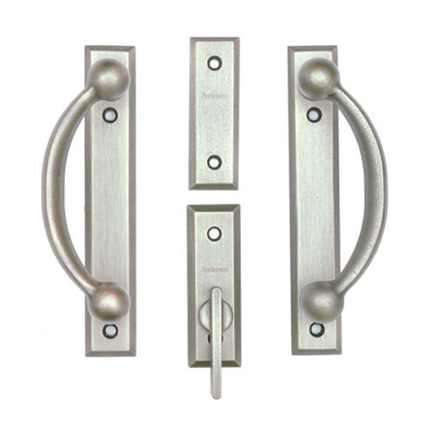 Gliding Patio Door Hardware - Complete Trim Set