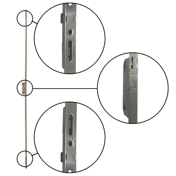 Three Point Mechanism : A series hinged door passive panel point hcr lock