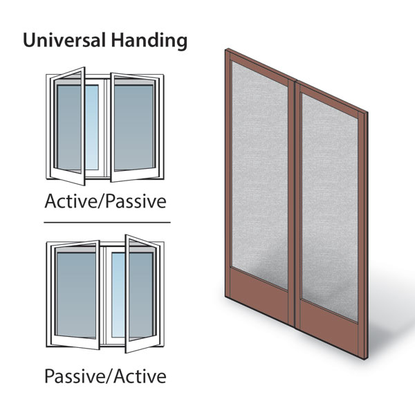 Hinged patio door double hinged insect screen kit 2666033 for Double hinged patio doors