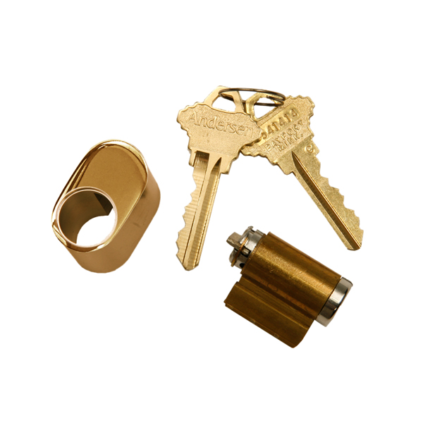 Andersen Hinged Patio Door Keyed Lock Brass