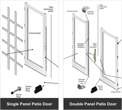 Parts Amp Accessories Andersen 200 Series Hinged Patio Doors