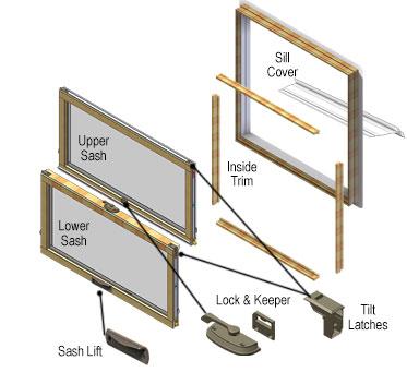 Andersen 200 Series Tilt Wash Window Parts