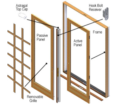 Andersen Windows   400 Series Frenchwood Patio   Door Parts
